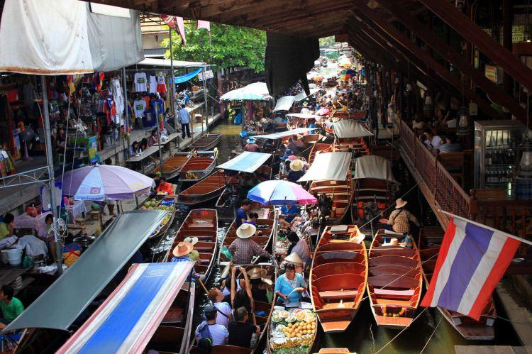 Damnoen Saduak Floating Market Bangkok Half Day Tour